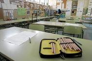 Un aula de un colegio de Madrid.
