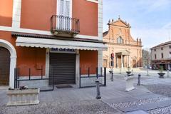Las calles desiertas de Codogno, Italia