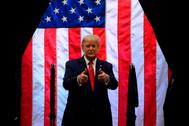 El presidente de EEUU, Donald Trump, en un mitin en Arizona.