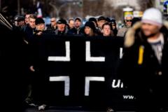 Marcha ultraderechista en Dresde por el aniversario del bombardeo de la ciudad durante la Segunda guerra Mundial.