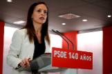 La presidenta de la Fundación Pablo Iglesias y secretaria de Ordenación Territorial y Políticas Públicas de Vivienda del PSOE, Beatriz Corredor, durante su intervención en el acto de conmemoración del 140 aniversario del partido
