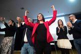 La portavoz de Cs en el Congreso, Inés Arrimadas, en un acto con militantes, este viernes, en Barcelona.