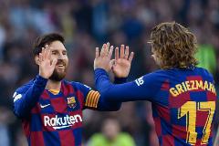 'Póquer' de Messi para la 'manita' del Barça al Eibar