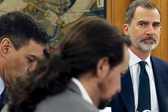 El Rey, en el Consejo de Ministros.