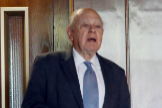 El ex presidente de Cataluña y patriarca de la familia Pujol, Jordi Pujol, tras los registros que la Policía hizo en su vivienda, en 2017.