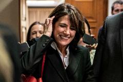 La ex ministra de Justicia y futura fiscal general del Estado, Dolores Delgado, este jueves, en el Congreso.