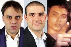 De izqda. a dcha., Tobias Rathjen, Alek Minassian y Elliot Rodger.