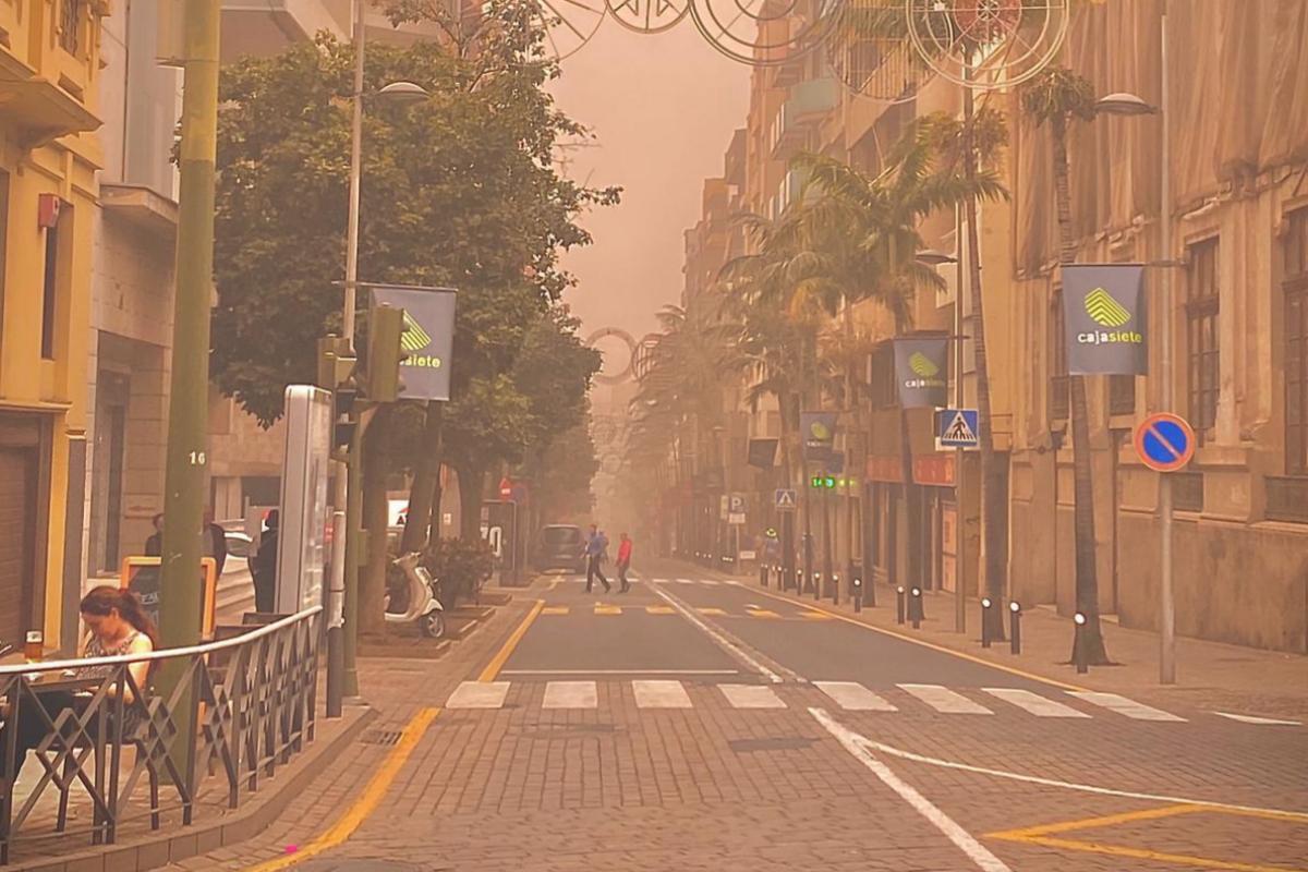 Una céntrica calle de Tenerife.