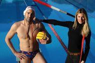 Antonio Moreno 19.02.2020 Barcelona Cataluña. Entrevista jugador de waterpolo Blai lt;HIT gt;Mallarach lt;/HIT gt; y su mujer en el Car de Sant Cugat.