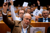 El vicepresidente de Castilla y León, Francisco Igea, en una sesión del Comité de las Regiones de la UE, en Bruselas.