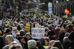 Manifestación de pensionistas celebrada el pasado año en Madrid.