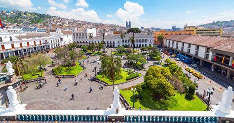 La Plaza Grande de Quito.
