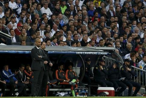 Guardiola, en su última visita al Bernabéu con el Bayern.