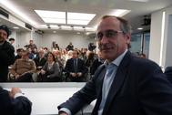 Alfonso Alonso, en la reunión de la Junta Directiva del PP vasco.