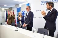 Alfonso Alonso, tras anunciar su dimisión como presidente del PP vasco.