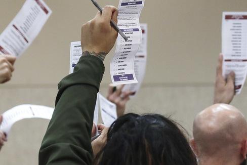Voluntarios en el caucus de Nevada.