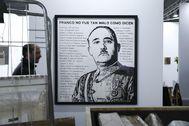 Retrato satírico de Franco del aertista Riko Sarinen en la galería sueca Forsblom, este año en Arco.