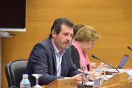 José Císcar (PP) en al comisión de comisión de Medio Ambiente de las Cortes Valencianas.