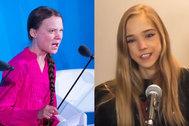 Naomi Seibt y Greta Thunberg.