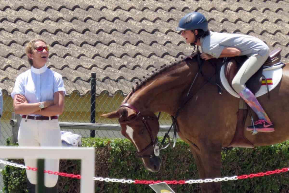 La hípica es otro de los deportes a los que es aficionada la hija de la Infanta Elena.
