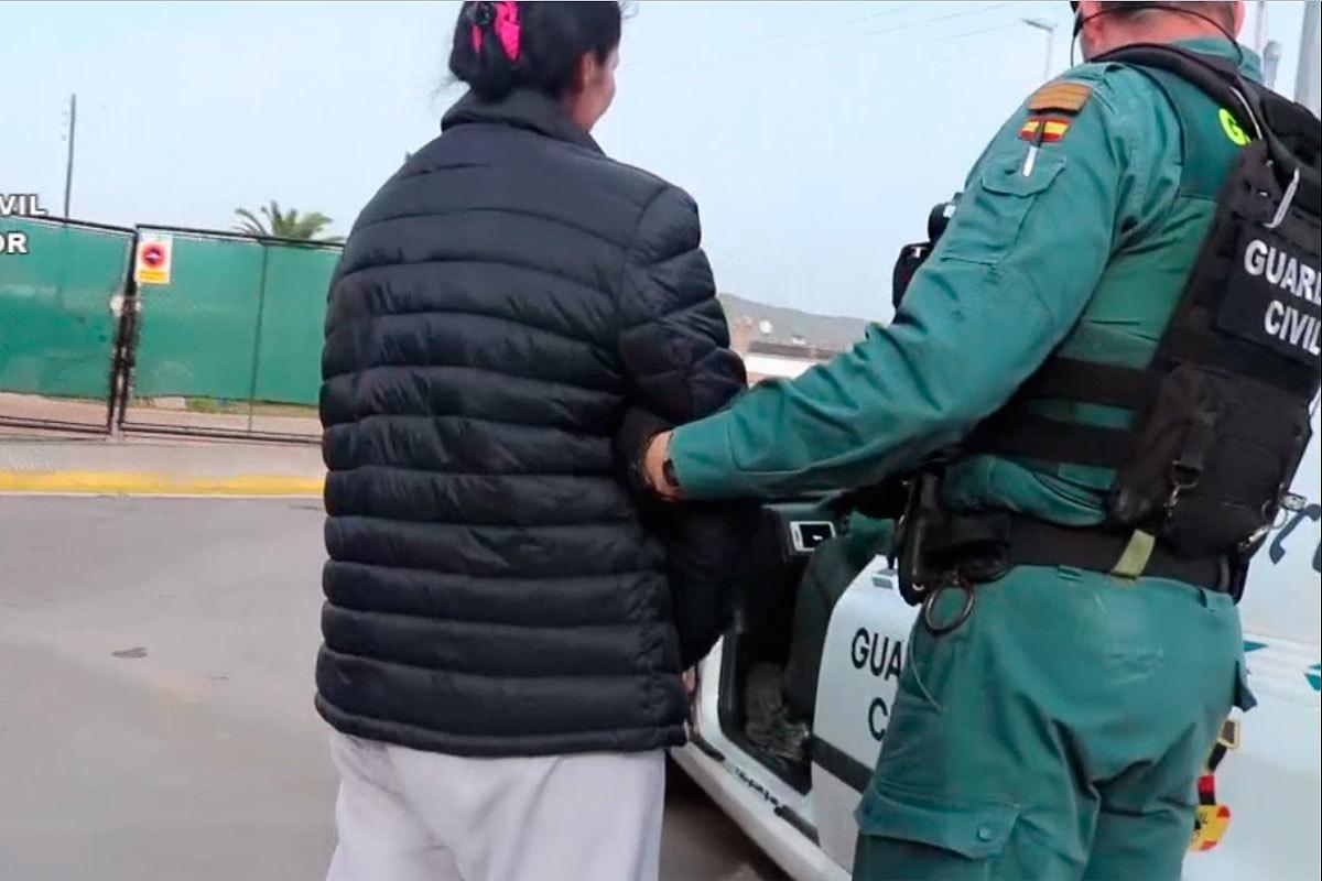 Una de los detenidos en la operación Bravos.