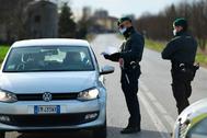 Control policial en el sudeste de Milán