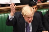El primer ministro británico, Boris Johnson, en el Parlamento, ayer.