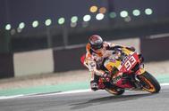 Marc Márquez, del equipo Repsol Honda, durante uno de los últimos entrenamientos antes del comienzo del Campeonato del Mundo MotoGP.