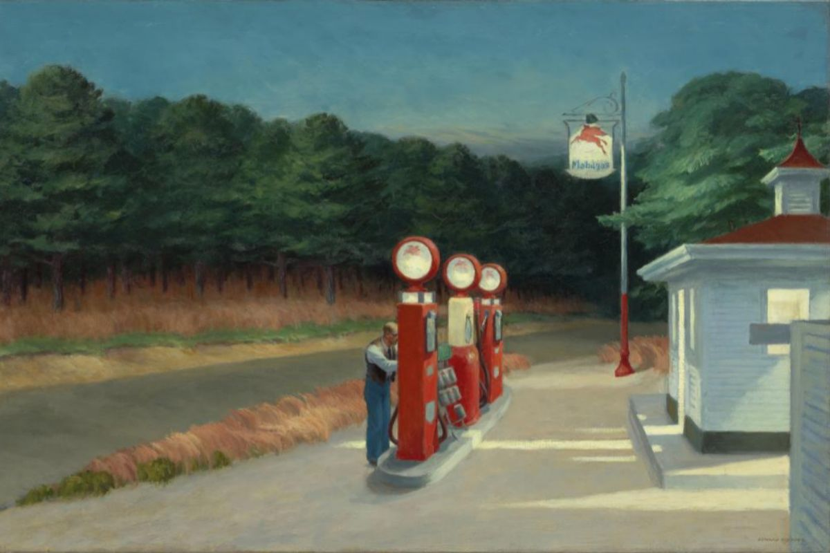 'Gas' (1940), obra de Edward Hopper.