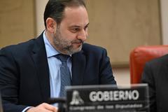 José Luis Ábalos, el miércoles, en la Comisión de Transportes del Congreso.