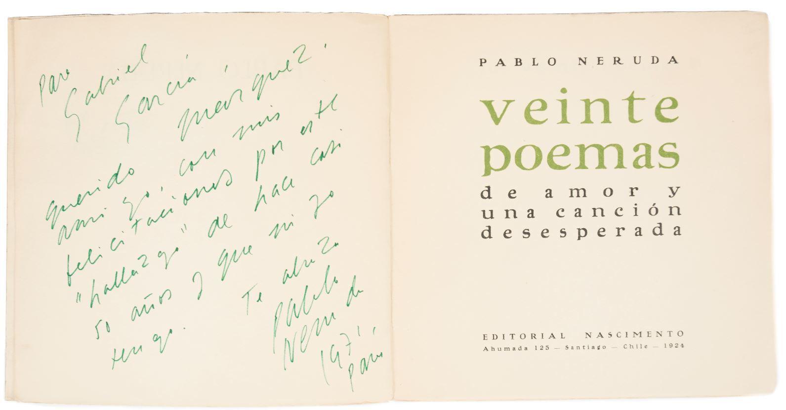 La dedicatoria a Gabriel García Márquez.