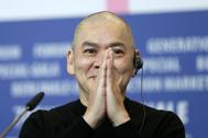 El director Tsai Ming-Liang en la presentación de 'Days' en Berlín.
