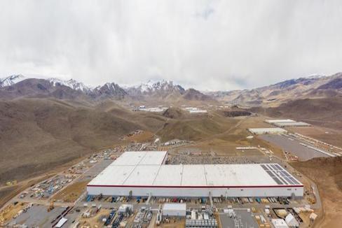 La 'gigafactory' de Tesla en Nevada.