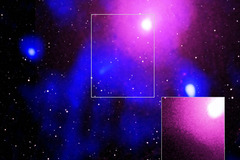 Imagen de la explosión, captada por el telescopio Chandra.