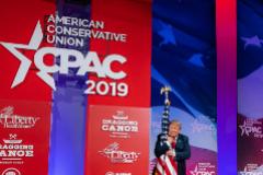 Donald Trump, en marzo de 2019, durante su intervención en la anterior Conferencia de Acción Política Conservadora.