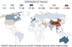 Mapa del coronavirus: así se ha expandido por España y el mundo