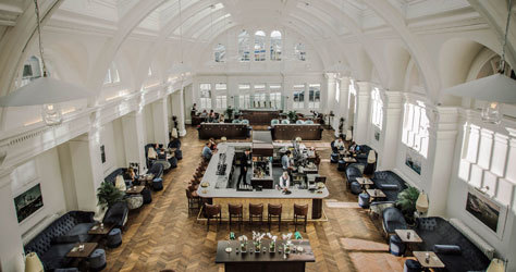 La antigua sala de diseño del Titanic del hotel homónimo