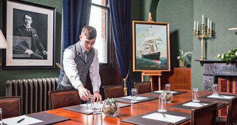 La oficina de Thomas Andrews Jr., director de Harland & Wolff.