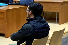 El agresor durante la sesión del juicio en la Audiencia Provincial de Valencia.