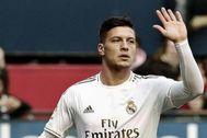 Luka Jovic, tras marcar en El Sadar.