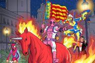Detalle del cartel del Salón del Cómic de Valencia.