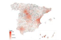 Mapa de riesgo de propagación de Covid-19 por contagio comunitario. (Última actualización: 28/02/2020)