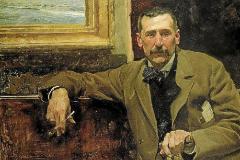 Retrato de Benito Pérez Galdós realizado por Joaquín Sorolla en 1894.