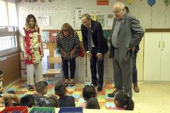Quim Torra visita un colegio en Cornellá (Barcelona) el pasado septiembre.