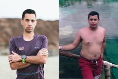 Cristofer Clemente, antes y después de su cambio.