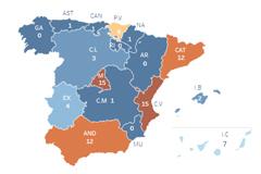 Así se expande el coronavirus por España