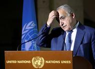FILE PHOTO: U.N. Envoy for Libya, lt;HIT gt;Salame lt;/HIT gt; holds a news briefing in Geneva