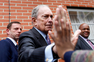 El candidato a las primarias demócratas, Michael Bloomberg.