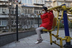 Beijing ( lt;HIT gt;China lt;/HIT gt;), 19/02/2020.- Chinese-Peruvian lt;HIT gt;girl lt;/HIT gt; Cristina Mingmei Zuñiga Li wearing protective mask, exercises in a residential compound as schools continue to be closed in the aftermath of the novel coronavirus outbreak, in Beijing, lt;HIT gt;China lt;/HIT gt;, 19 February 2020 (issued 20 February 2020). The disease caused by the novel coronavirus (SARS-CoV-2) has been officially named COVID-19 by the World Health Organization (WHO). The outbreak, which originated in the Chinese city of Wuhan, has so far killed more than 2,000 people with over 75,000 infected worldwide, mostly in lt;HIT gt;China lt;/HIT gt;. EPA/ ATTENTION: This Image is part of a PHOTO SET