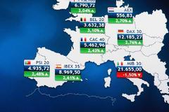 Mapa de las bolsas europeas este martes.
